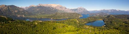 View on Lago Nahuel Huapi and Cerro Campanario in distance in Argentina