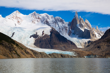 Spectacular view on mountain peaks in Los Glaciares National Park in Argentina