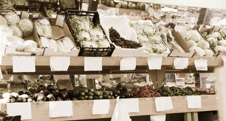 Assortment of different fresh vegetables at farmers market Zdjęcie Seryjne