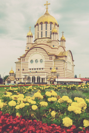 Image of cathedral of St. John the Baptist in Fagaras in Romania.
