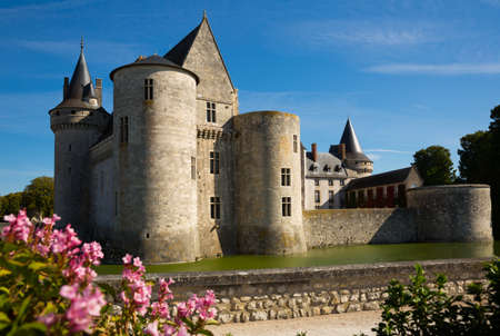 View of majestic castle Chateau de Sully-sur-Loire, France