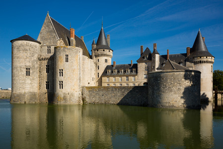 SULLY-SUR-LOIRE, FRANCE - OCTOBER 11, 2018: View of Chateau de Sully-sur-Loire, France