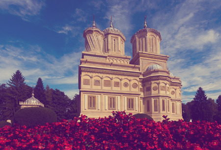 Cathedral in romanian city is religion landmark of Romania.