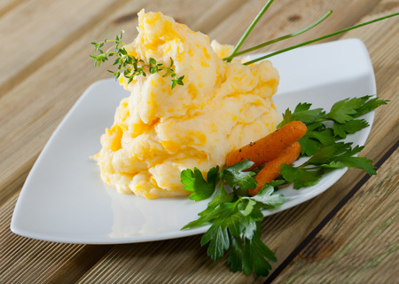 Classic Scottish Clapshot - dish of mashed swede and potato (or neeps and tatties)