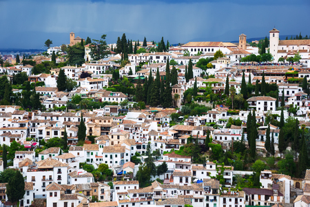 View of  Granada cityspace.   Spain