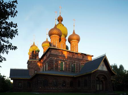St John the Baptist Church in Tolchkovo Sloboda in twillight