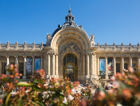 PARIS, FRANCE - OCTOBER 10, 2018:  View of Petit Palais (Small Palace) – art museum in Paris, on sunny day