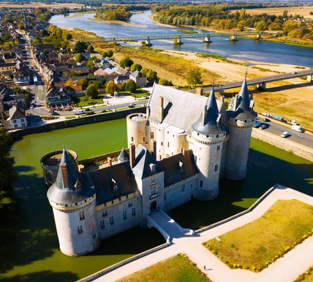 SULLY-SUR-LOIRE, FRANCE - OCTOBER 11, 2018: Renaissance architecture, Chateau de Sully-sur-Loire, France