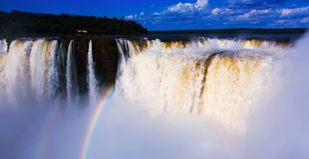General view on the grand Iguazu Waterfalls system in Argentina Banque d'images - 115758792