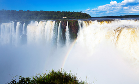 General view on the grand Iguazu Waterfalls system in Argentina Banque d'images - 116472126