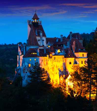 Mysterious Bran castle, also called Draculas castle. Brasov, Romania Stok Fotoğraf
