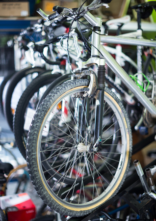 Image of assortment iron bike selling in the store