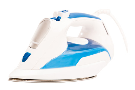 Electric clothes iron isolated over white background