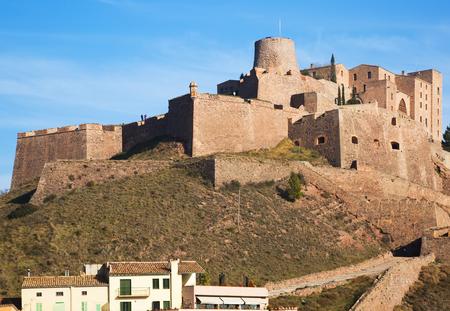 Castle of Cardona in winter day. Catalonia, Spain Stock Photo
