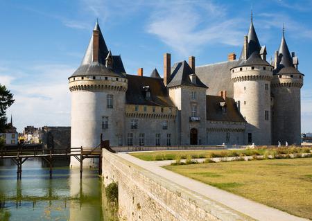 SULLY-SUR-LOIRE, FRANCE - OCTOBER 11, 2018: View of Chateau de Sully-sur-Loire, France