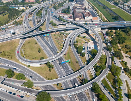 View on car interchange of Barcelona  in the Spain.