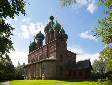 Summer view at St John the Baptist Church in Tolchkovo