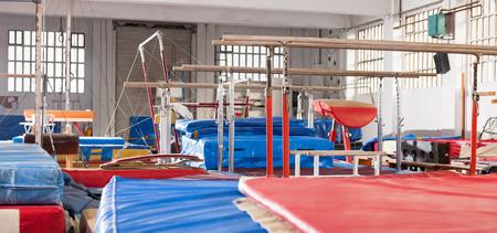 Image of interior of acrobatic center with gymnastic equipment Foto de archivo - 120654236