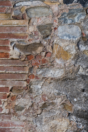 Background of breakable stone wall with concrete