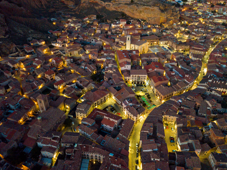 Aerial view of the spanish city of Daroca. Aragon, Spain