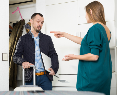 Wife offended husband because of his business trip