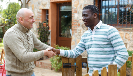 Getting to know the neighbors at the country houses in village