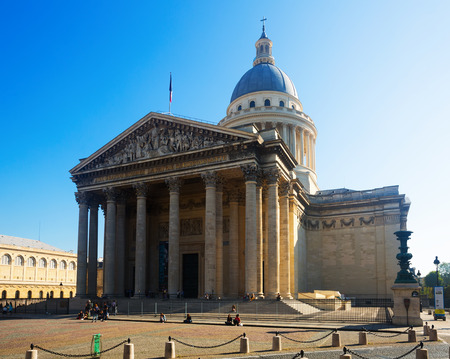 PARIS, FRANCE - October 10, 2018: Famous national landmark of France - secular mausoleum of Pantheon on sunny day Editorial