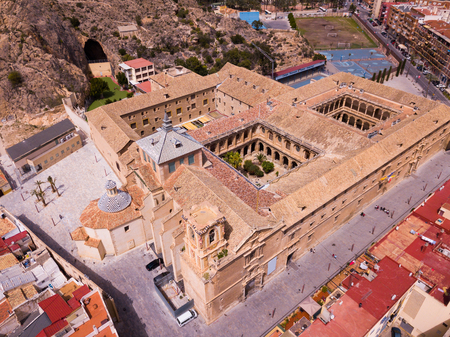 Aerial view of  old University and historical part of town, Orihuela, Alicante