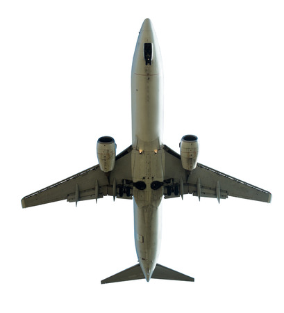 Commercial aircraft isolated on white background