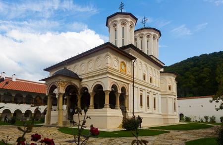 Monastery Horezu in romanian city is religion landmark of Romania.
