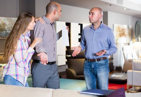 Couple dissatisfied with service in furniture store