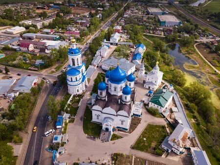 Bogolyubsky monastery from helicopter. City vladimir. Russia