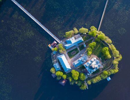 Aerial view of Holy-Vvedensky nunnery at Vladimir region. Russia