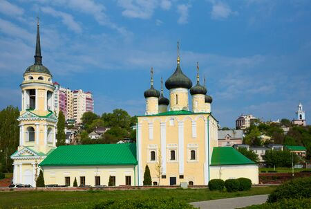 View of Assumption Church - oldest church in Voronezh located on Admiralty square, Russia