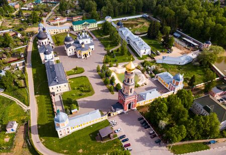 Holy Ascension Davids desert from helicopter. Moscow region. Russia