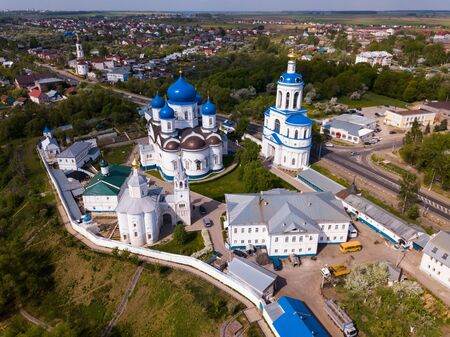 View of Bogolyubsky Monastery of Birth of Bogoroditsa in historic Russian village of Bogolyubovo, Vladimir Oblast