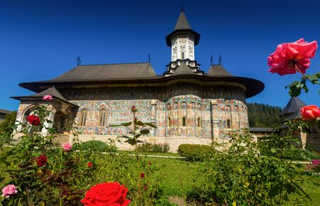 Church of Sucevita Monastery is masterpiece of Bucovina painted churches