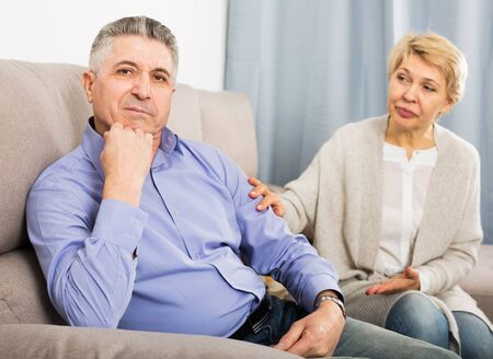 Mature husband and wife find out relationship and sort out family problems