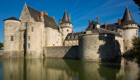 SULLY-SUR-LOIRE, FRANCE - OCTOBER 11, 2018: Renaissance architecture, Chateau de Sully-sur-Loire, France
