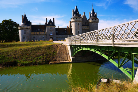 Impressive Renaissance architecture of Chateau de Sully-sur-Loire, France