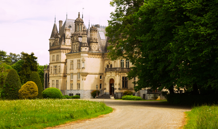 Landscape with Castle of Valmirand in Montrejeau, France