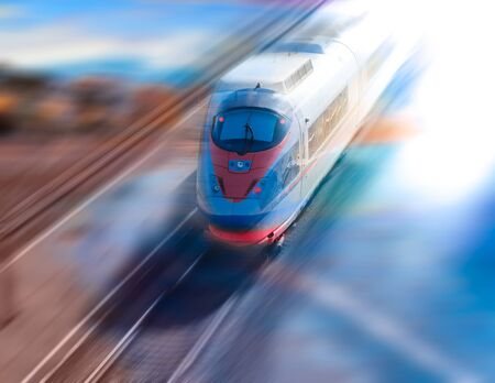 Speed of train traveling growing in modern world