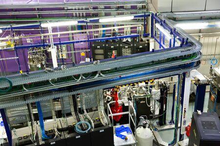 CERDANYOLA DEL VALLES, SPAIN - JUNE 29, 2019: Design of MISTRAL beamline, one of seven beamlines at ALBA synchrotron light source