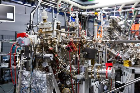 CERDANYOLA DEL VALLES, SPAIN - JUNE 29, 2019: View of experimental stations of CIRCE beamline in ALBA research laboratory