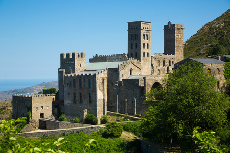 View of Monestir de Sant Pere de Rodes, Girona province, Spain