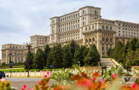Building of Romanian Parliament, Palace of Parliament in Bucharest, Romania Zdjęcie Seryjne