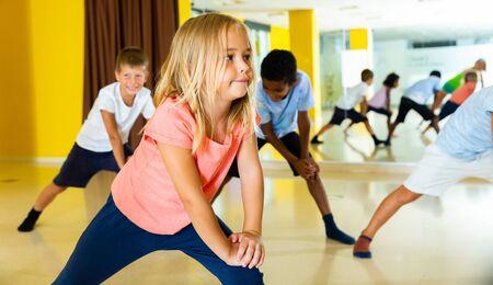 Gymnastics lesson in elementary school 写真素材