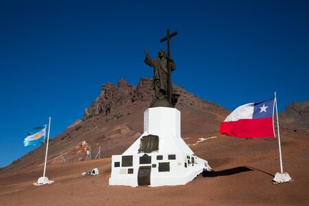 Monument to Christ on border of Argentina and Chile in the Andes Standard-Bild