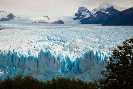 View of glacier Perito Moreno (Glaciar Perito Moreno) located in national park Los Glyacious. Patagonia, Argentina