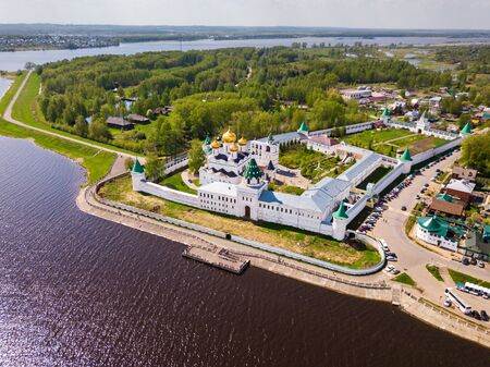 Picturesque architectural ensemble of medieval Orthodox Ipatiev Monastery in Kostroma, Russia